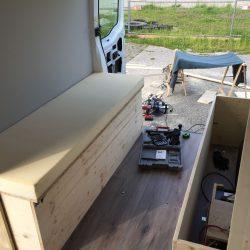 Möbel im Bus sitzbank Renault Master